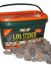 Fire Up Lava stenen in emmer 4,5 kg