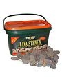 Fire Up Lava stenen in emmer 4,5 kg