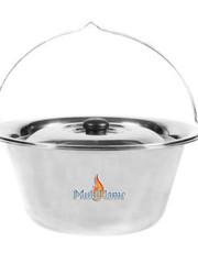Grote RVS hangpan / goulash pan