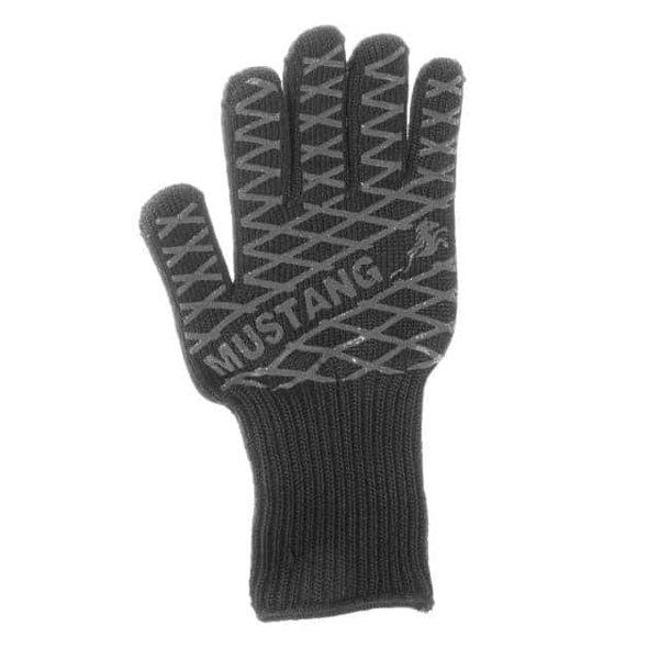 Mustang Vlam vertragend / hitte bestendige bbq handschoen van aramidevezel en katoen