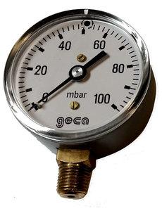 Lage druk manometer 0 - 100 mbar