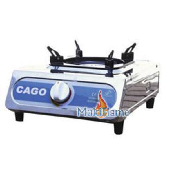 CAGO Krachtig RVS gas kooktoestel thermisch beveiligd