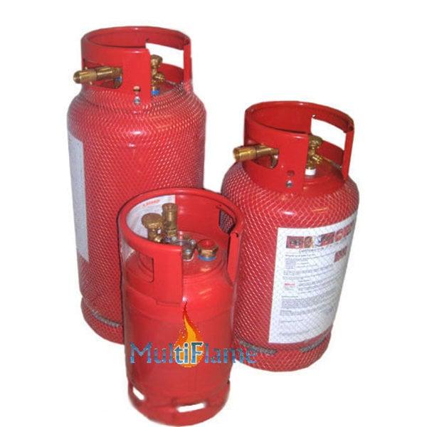 LPG gasfles / gasdamptank staal met beschermkraag