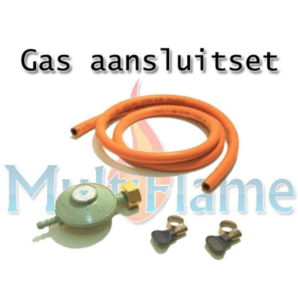 Gas aansluitset voor product op flessengas