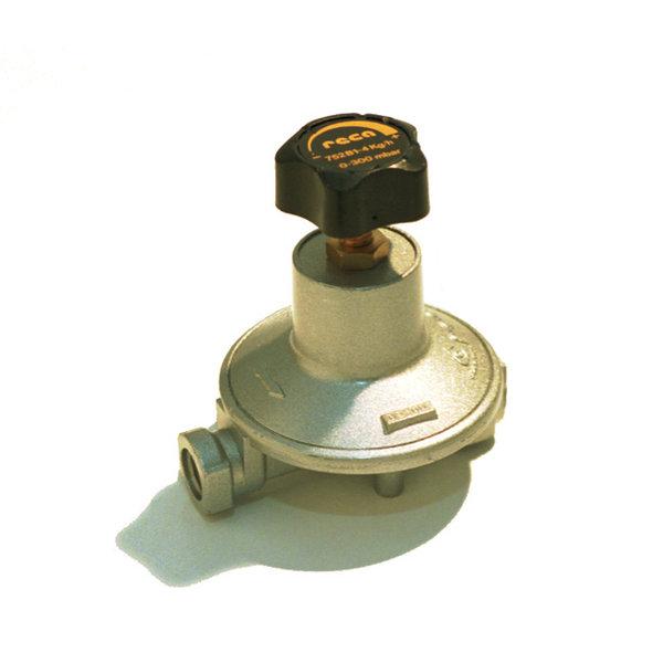 RECA instelbare gasdrukregelaars 0 - 300 mbar met diverse aansluitingen