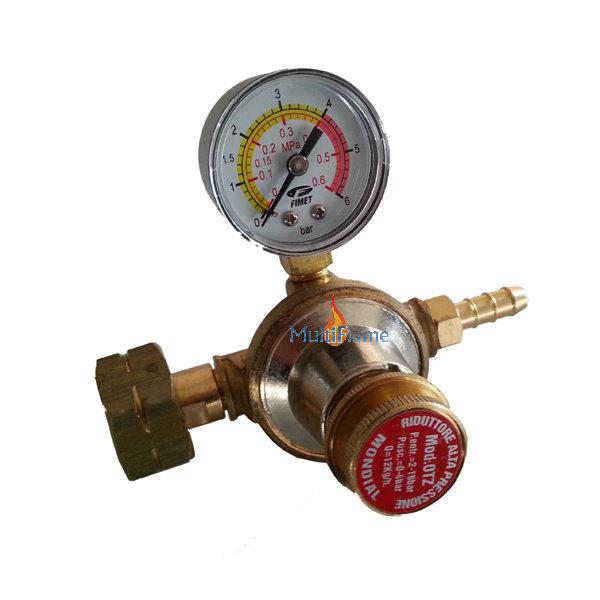 Hogedruk gasdrukregelaar 0 - 3 bar 8 KG/H