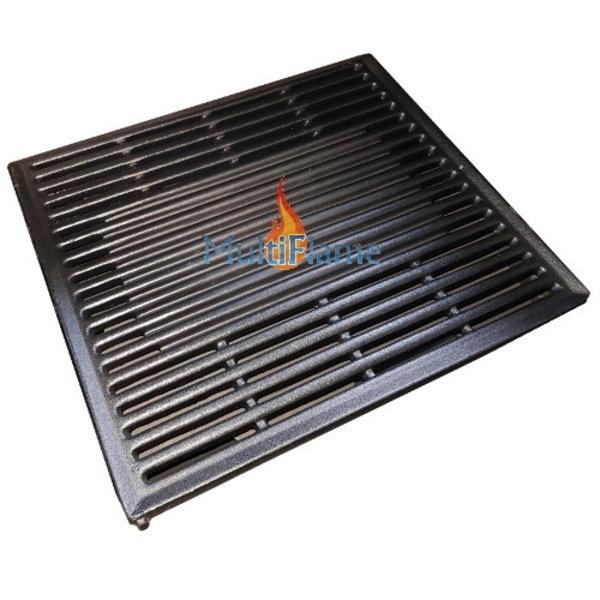 Gietijzeren BBQ grill rooster met bakplaatje in midden