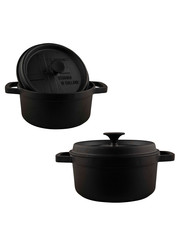 The Windmill Cast Iron BBQ pan met deksel