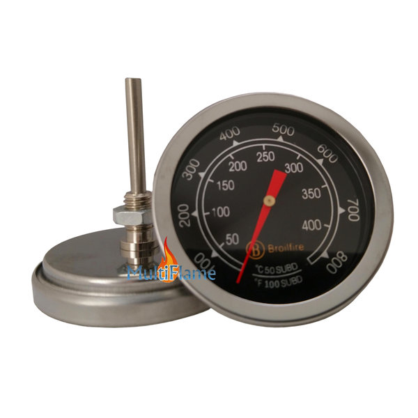 Broilfire BBQ thermometer RVS barbecue temperatuur meter