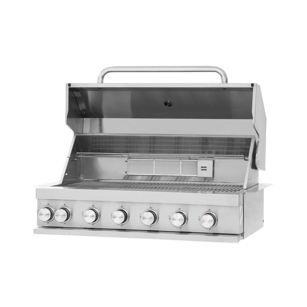 Mustang RVS gas grill Jewel 6 pits inbouw