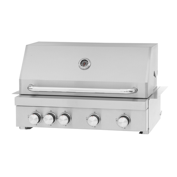 Mustang Gas grill Pearl RVS 4 pits inbouw