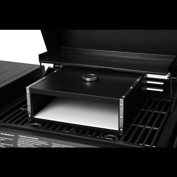 Mustang Pizza bak oven voor op de gas bbq