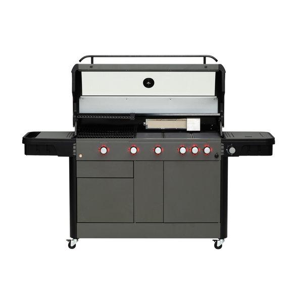 Mustang Premium gas grill Sapphire met 5 of 7 branders