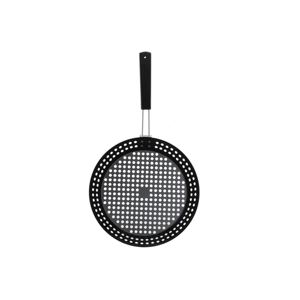Mustang stalen grill topper/pan 30 cm rond