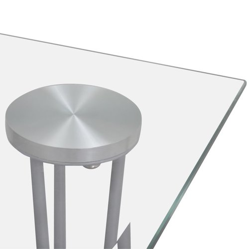 SnutsProducts Eettafel met glazen tafelblad transparant