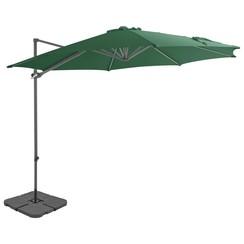 Parasol met draagbare voet groen