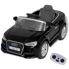 Elektrische speelgoedauto met afstandsbediening Audi A3 zwart
