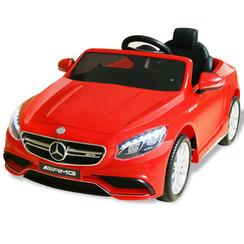 Elektrische speelgoedauto Mercedes Benz AMG S63 rood 12 V