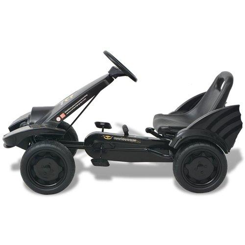 vidaXL Skelter met pedalen en verstelbare zitting zwart