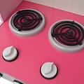 vidaXL Speelgoedkeuken roze en wit 82x30x100 cm hout