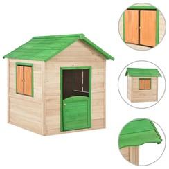 Kinderspeelhuis hout groen