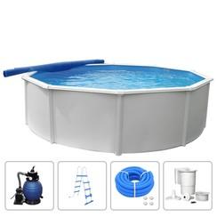 Zwembadset Steely Deluxe rond 4,6x1,2 m