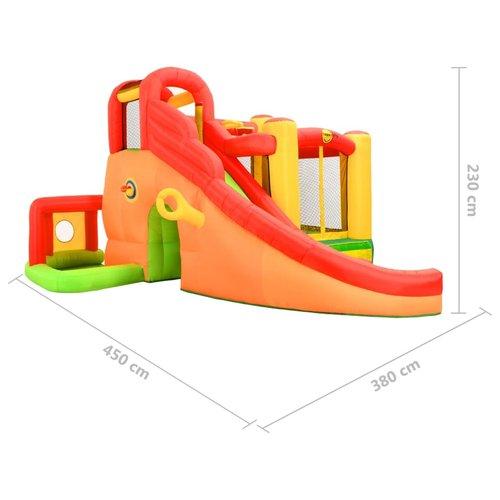 Happy Hop Springkussen met glijbaan 450x380x230 cm PVC