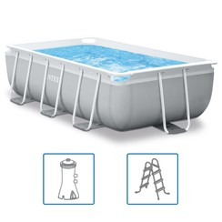 Zwembadset Prism Frame rechthoekig 300x175x80 cm