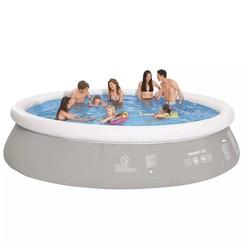 Zwembad rond opblaasbaar 450x122 cm grijs