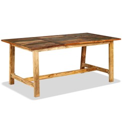 Eettafel 180 cm massief gerecycled hout