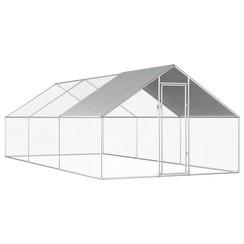Buitenhok voor kippen 2,75x6x2 m gegalvaniseerd staal