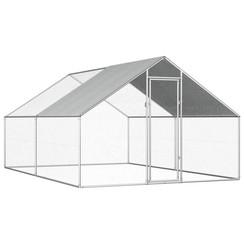 Buitenhok voor kippen 2,75x4x2 m gegalvaniseerd staal