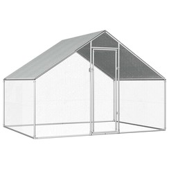 Buitenhok voor kippen 2,75x2x2 m gegalvaniseerd staal