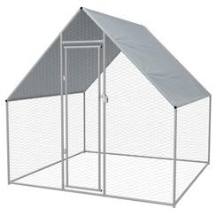 Buitenhok voor kippen 2x2x2 m gegalvaniseerd staal