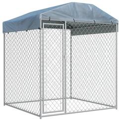 Hondenkennel voor buiten met dak 2x2x2,1 m