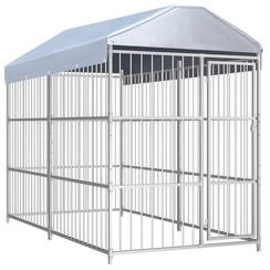 Hondenkennel voor buiten met dak 300x150x200 cm
