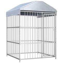 Hondenkennel voor buiten met dak 150x150x200 cm