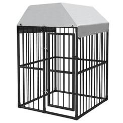 Hondenkennel voor buiten met dak 1,2x1,2x1,9 m