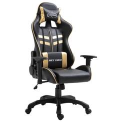 Gamingstoel kunstleer goudkleurig