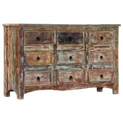 Ladekast 130x40x80 cm massief gerecycled hout