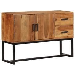 Dressoir 115x30x70 cm massief acaciahout bruin
