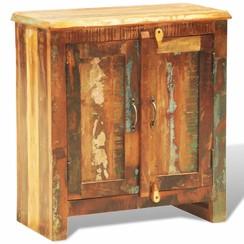 Kast met 2 deuren vintage-stijl massief gerecycled hout