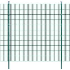 Dubbelstaafmatten en palen 2008x2230 mm 40 m groen