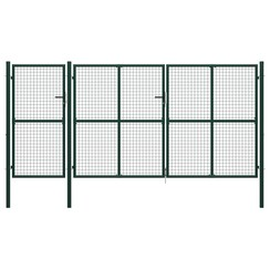 Poort 400x175 cm staal groen