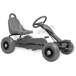 Skelter met pedalen en pneumatische banden zwart