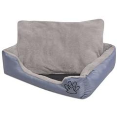 Hondenbed met gewatteerd kussen maat XXXL grijs
