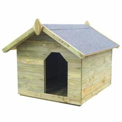 Hondenhok voor tuin met opklapbaar dak geïmpregneerd grenenhout