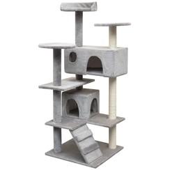 Kattenkrabpaal met sisal krabpalen 125 cm grijs