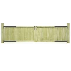 Poorten 2 st 300x75 cm geïmpregneerd grenenhout