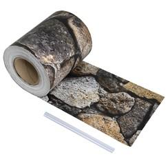 Schuttingstrook steenontwerp 70x0,19 m PVC
